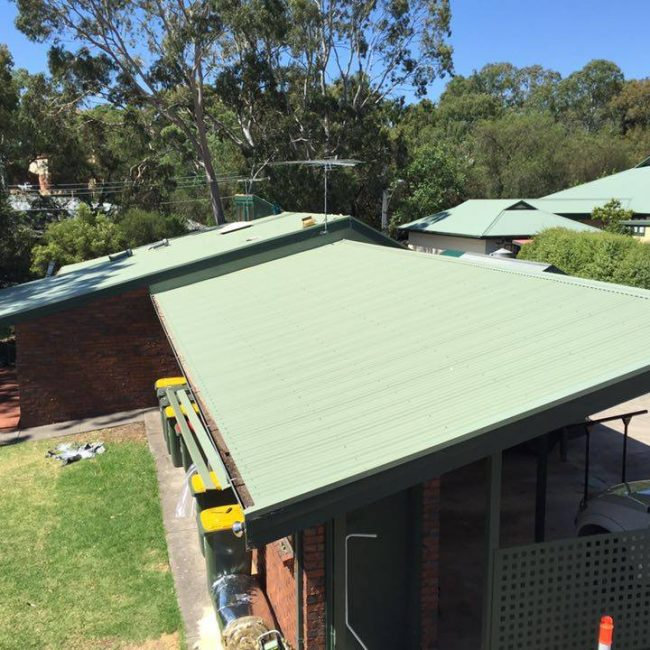 Asbestos to Colorbond Roof Replacement - Green Metal Roof - Tea Tree Gully - Roof & Render
