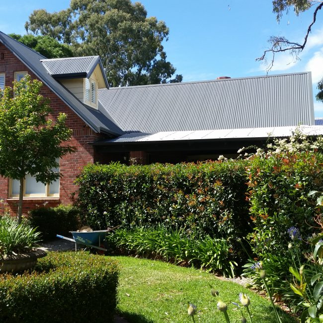 Asbestos to Colorbond Roof Replacement - Grey Metal Roof - Torrens Park House