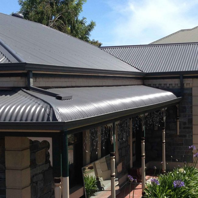 Grey Metal Roof with Verandah
