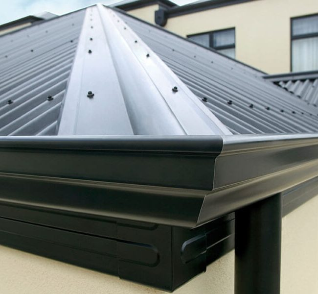 New Gutters - Charcoal Colorbond Gutters - Roof & Render