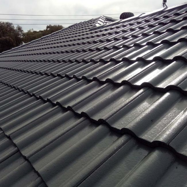 Tiled Roof Restoration Charcoal Tiles