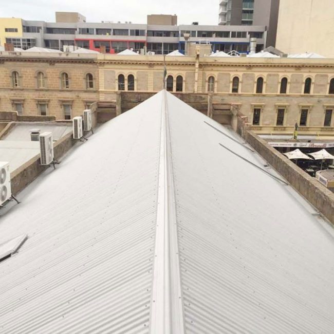 commercial reroof rundle street adelaide after