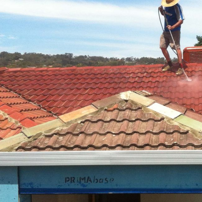 red tile roof restoration